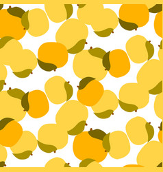 apricot seamless pattern on white vector image vector image