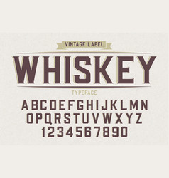 decorative vintage retro typeface font alphabet vector image