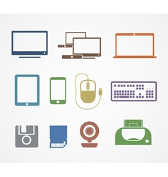 Digital stuff icons vector image