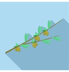 Olive branch icon flat style vector image vector image