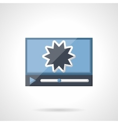 Action movie flat color icon vector image vector image