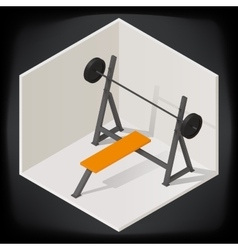 Bench press isometric vector image vector image