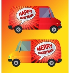 Holiday bus isolated vector image vector image