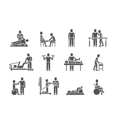 medical physical therapy and people rehabilitation vector image
