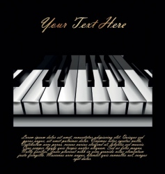 piano key background vector image vector image