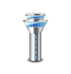 Tower control isolated on white vector