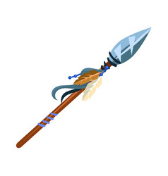 warriors spear cold weapon native american indian vector image