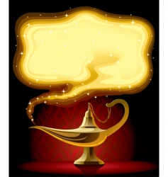Aladdin's lamp vector image vector image