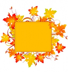 fall frame vector image vector image