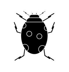 ladybug insect nature icon pictogram vector image