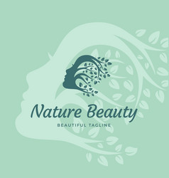 nature beauty abstract sign emblem or logo vector image vector image