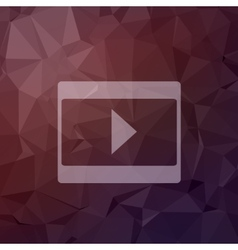 Play button in flat style icon vector image