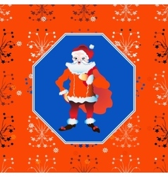 portrait of a Santa Claus posing near bag gifts vector image vector image