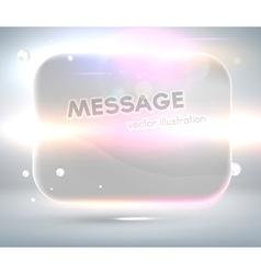 Speech Bubble Design vector image vector image