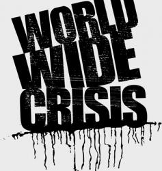 world wide crisis headline vector image