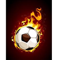 Burning soccer ball vector image