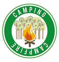 camping adventure vector image vector image