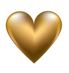 golden shiny heart vector image