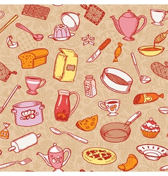 Kitchen And Cooking Pattern vector image