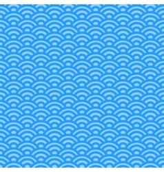 Light blue waves japanese pattern vector image
