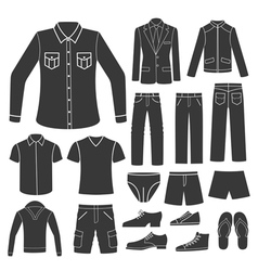 Set of men s clothing vector