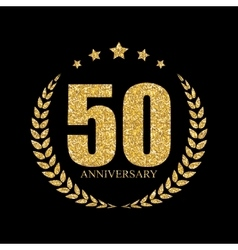 Template Logo 50 Years Anniversary vector image vector image