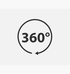 360 degree view icon vector