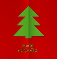 Abstract xmas tree image vector image