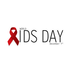 Aids awareness world aids day concept red ribbon vector