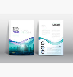 Annual report cover brochure flyer design template vector