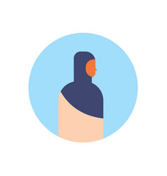 arabic woman profile avatar icon arab vector image