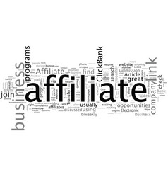 are affiliate programs good business opportunities vector image