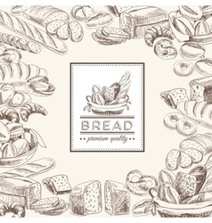bakery retro background vector image