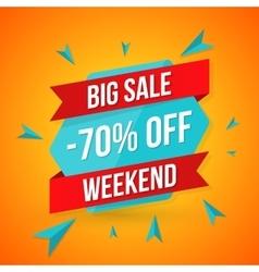 Big sale banner 70 off best offer vector