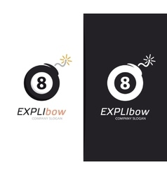 billiard ball and bomb logo combination vector image