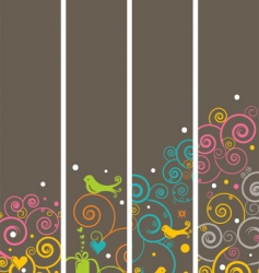 Bird banners vector