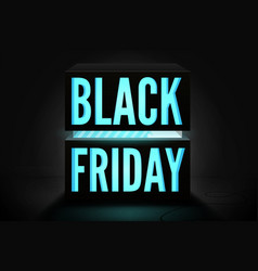 black friday minimalist 3d banner template vector image