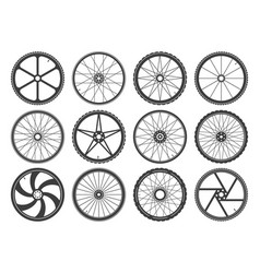 bmx cycling wheels vector image