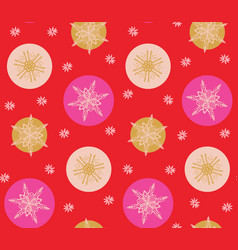 bold pink and red modern minimal christmas vector image