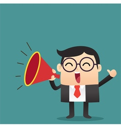 Business Cartoon With Megaphone vector image vector image