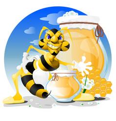 Cartoon bee eps 10 vector