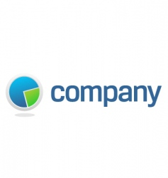 chart pie for financial company vector image