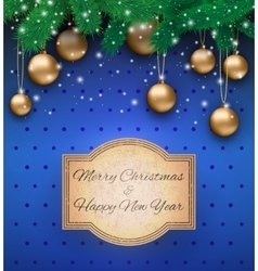 Christmas background with sign vector
