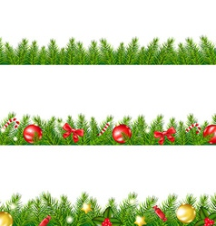 Christmas Border With Fir Tree vector