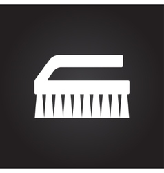 Cleaning brush vector