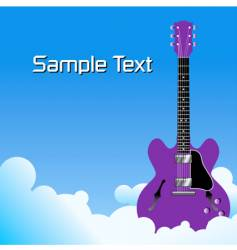 clouds guitar background vector image