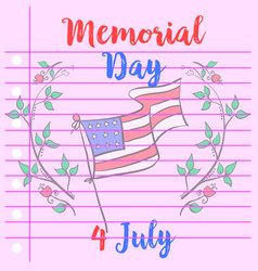 Collection of memorial day greeting card vector