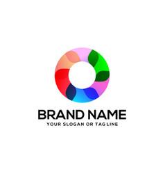 Colorful letter o logo design vector