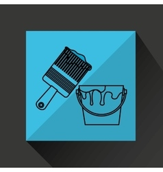 construction tools design vector image