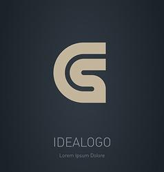 CS initial logo CS initial monogram logotype vector image vector image